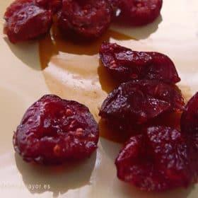 Arándanos rojos secos