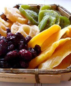 Cesta de frutas secas para regalar