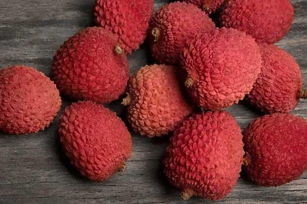 Fruta de lichi de la variedad Brewster