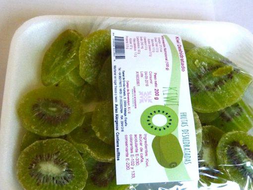 Bandeja de kiwi deshidratado