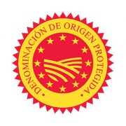 """Logo CE de la Denominación de Origen Protegida """"Pasas de Málaga"""""""