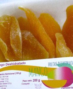 Mango deshidratado cortado en láminas