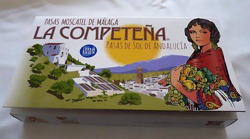 Estuche de pasas Moscatel de Málaga en racimo. Serie única