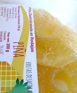 Piña deshidratada en bandeja de 200 g
