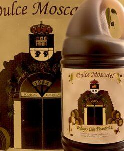 Vino dulce de Cómpeta en garrafa de plástico de 2 litros. Bodegas Luis Picante