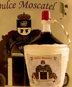 Vino dulce de Cómpeta en garrafa de cristal de 2 litros. Bodegas Luis Picante
