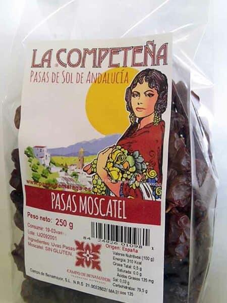 Bolsa de 250 g de pasas Moscatel de Málaga
