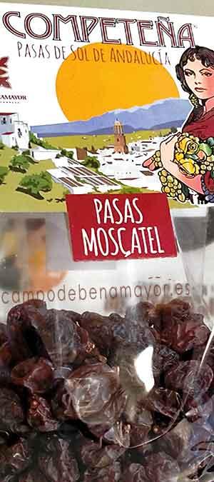 Pasas de Málaga en bolsa de 400 g categoría Extra