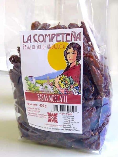 Bolsa de 450 g de pasas Moscatel de Málaga