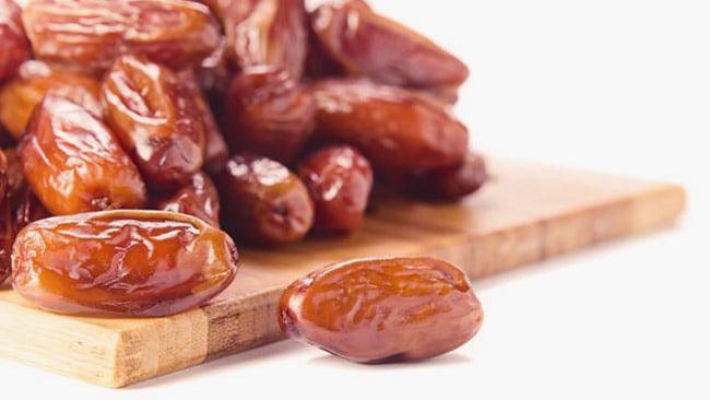 Dátiles secos de la variedad Deglet Nour