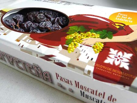 Estuche de 600 g de pasas Moscatel en racimo