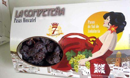 Estuche de 1,8 kg de pasas de Málaga en racimo de categoría Superior