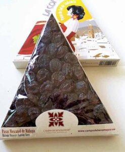 Estuche triangulo con 225 g de pasas Moscatel de Málaga