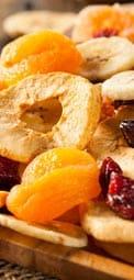 Frutas secas y frutas deshidratadas de temporada