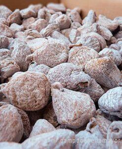 Higos secos enharinados en envase a granel de 12 kg