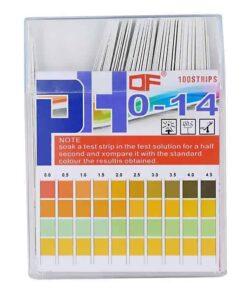 Tiras medidoras de pH desde 0 a 14
